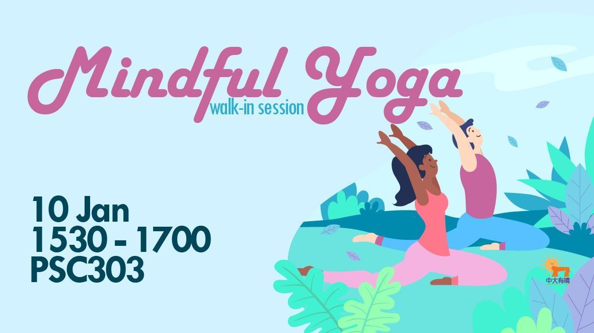 Mindful Yoga (Walk-in Session) @Sunshine At CUHK